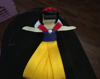 Snow White ribbon sculpture bow