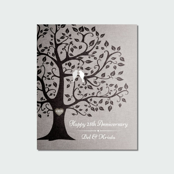 25th Anniversary Gift for Parents 25 Years Silver Anniversary CANVAS ...