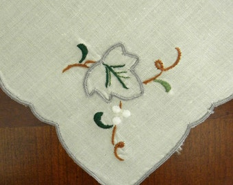 Set of 6 Leaf & Berry Embroidered Napkins