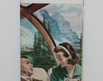 SALE! Canada by Canadian Pacific Vintage Pamphlet --  Canadian Locomotive Train Poster