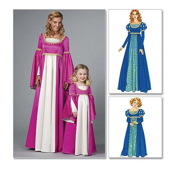 renaissance dress patterns medieval dress costume historic