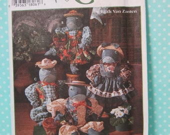 "Frog Pattern. Doll Pattern. Simplicity 9584. 18"" Frog Soft Sculpture Pattern Includes Clothes Pattern. Uncut. Cheapest shipping"