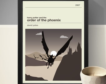 Harry Potter and the Order of the Phoenix Movie Poster - Movie Poster, Movie Print, Film Poster, Harry Potter Poster