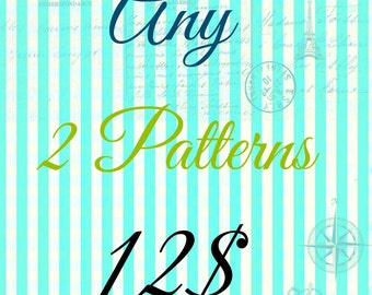 2 Pattern Pack - Choose any 2 PDF Sewing Patterns from FemiKidsCouture and SaVe