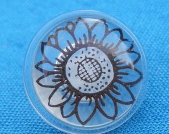 Vintage  Button Sunflower