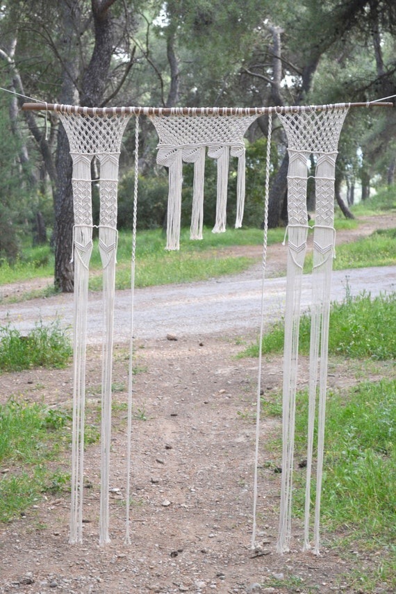 macrame curtain wall hanging wedding backdrop with fine
