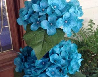 Topiary, Floral Topiary, Hydrangea Topiary, Wedding Topiary, Topiary Floral Arrangement, Topiary Centerpiece, Silk Flower Topiary
