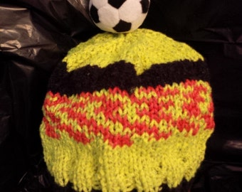 Child's Hat with Soccer Ball Pompom
