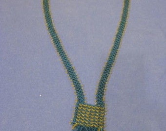 Vintage 1920s Two-Tone Beaded Flapper Necklace