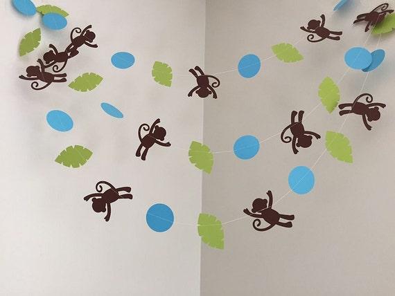 Monkey Safari Jungle Theme Baby Shower Decorations Monkey Birthday