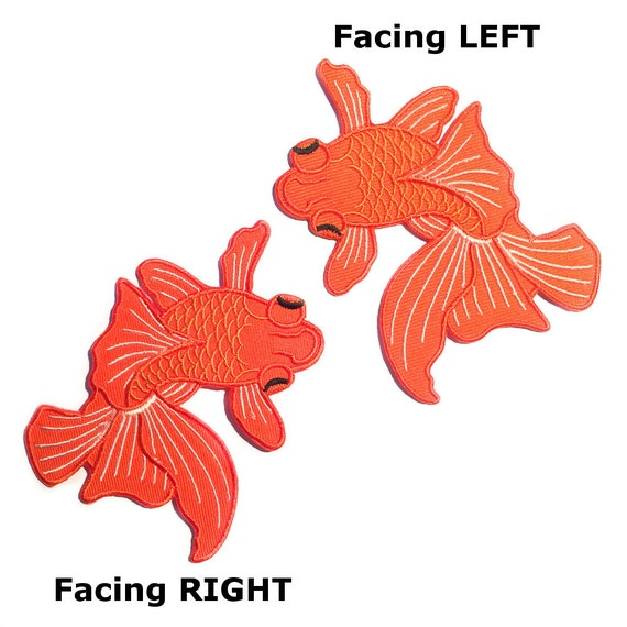 Japanese koi pair two fish tattoo iron on patches by for Japanese koi fish names