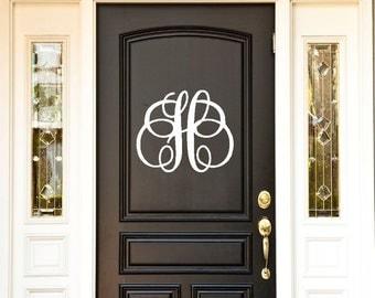 Front Door Decoration,  Front Door Decor, Front Door Monogram, Wall Decal, Monogram, Front Door Sign - Front Door Decor, Wall Decal