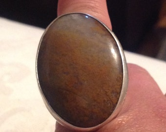Massive Sterling Ring Made In Glasgow