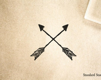 Rustic Arrows Rubber Stamp - 2 x 2 inches