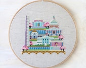 Pretty Little Washington DC - Modern Cross Stitch Pattern PDF - Instant download