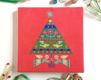 Merry and Bright - Satsuma Street Christmas Tree - modern cross stitch pattern PDF - Instant download