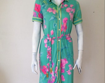 LEONARD PARIS Vintage Floral Dress