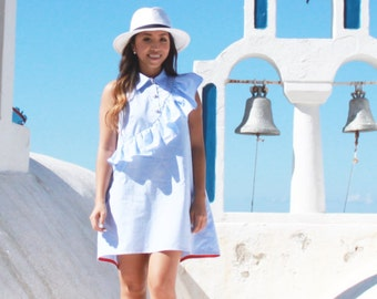 Made to order: ruffle shirt dress