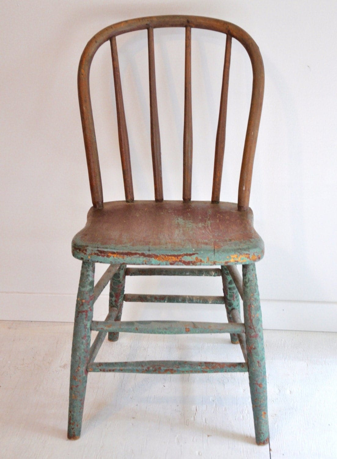 Very Impressive portraiture of Old Distressed Painted Wood Chair – Haute Juice with #6F4737 color and 1103x1500 pixels