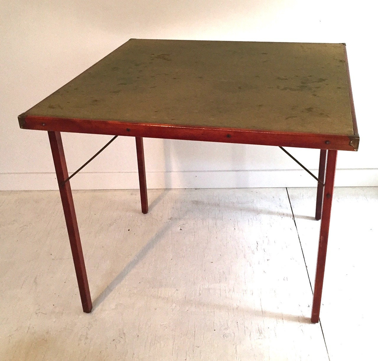 antique burrowes folding card game table. Black Bedroom Furniture Sets. Home Design Ideas