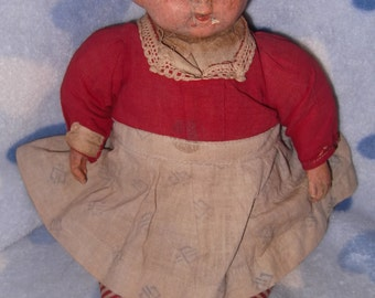 Early Campbell Soup Kid Composition Doll
