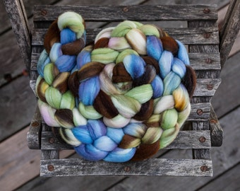 Merino Silk Hand Dyed Combed Top Wool Spinning Fiber Roving