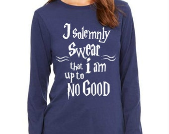 Spell Swear up to no good Women Clothing Long sleeves T-shirt