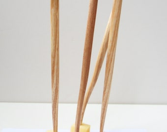 wooden cheese pick set