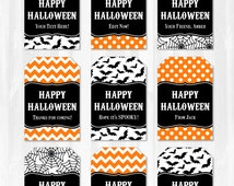 Halloween Tags - Halloween Favor Tags - Instant Download - ALL text is EDITABLE with Adobe Reader! Halloween Party Supplies
