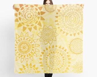 Golden Sunshine Scarf - Hello Sunshine - Sheer Fashion Scarf