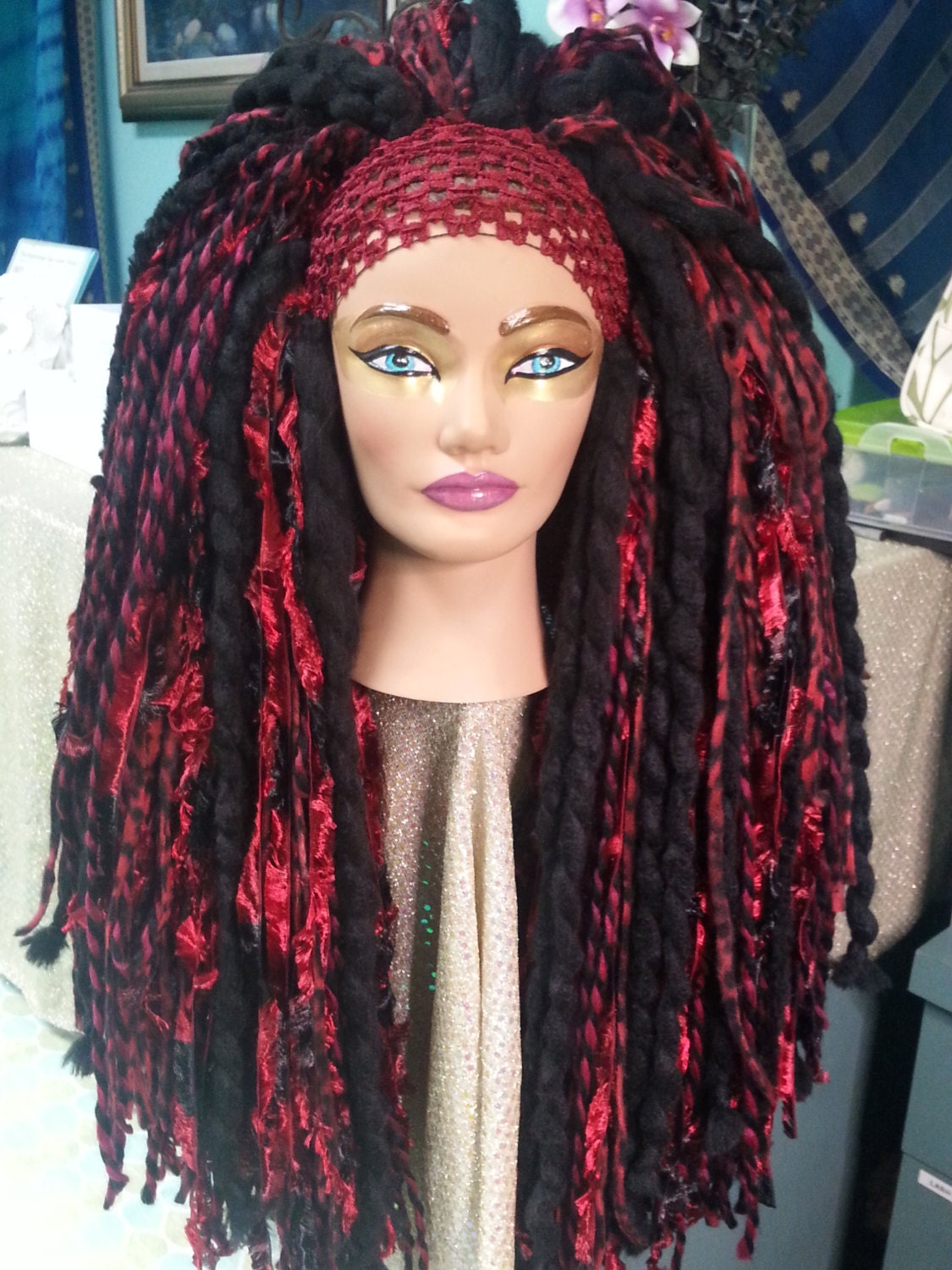 how to make a yarn wig with pantyhose