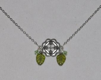 Silver Necklace Lucky Shamrock #459