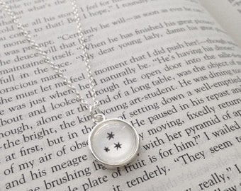 Handmade Harry Potter Star Necklace // Book Page Star Necklace // Harry Potter Jewelry