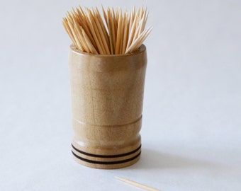Hand Turned Wooden Toothpick Holder By Kapcustomwoodturning