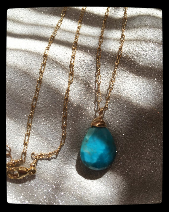 Turquoise Necklace Women's Summer Jewelry Earthy