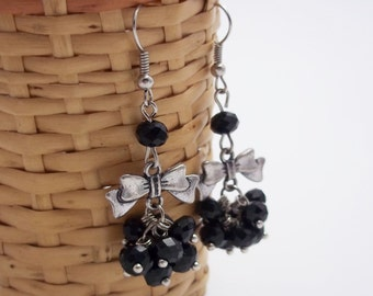 Gift|for|her Gemstone earrings Black jewelry gemstone jewelry drop earrings chandelier earrings black earrings dangle earrings beads earring