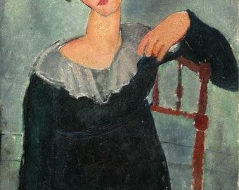 "Amedeo Modigliani : ""Woman with Red Hair"" (1917) - Giclee Fine Art Print"