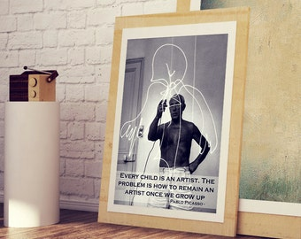 PABLO PICASSO Art Poster * Best Pablo Picasso Quotes Wall Art Print *** A3 A4 Sizes Available , Gift For Her , Gift For Him