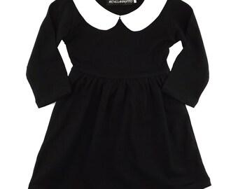 Wednesday sleeved girls cotton dress
