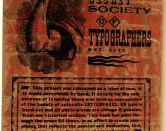TYPOGRAPHIC CODEX  Hand Printed Letterpress Book