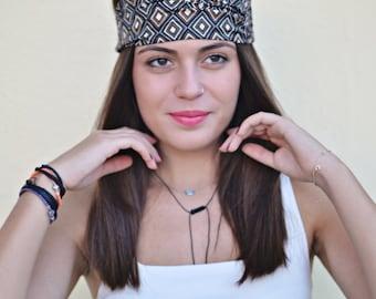 Viscose Headband, Rhombus Turban, Bohemian Headband, Hair Accessories, Womens Accessories, Womens Turban, Womens Headband, Vintage Headbands