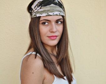 Cotton Headband, Olive Headband, Head Wrap, Sports Headbands, Wide Headband, Womens Turban, Turban Headband, Womens Headband
