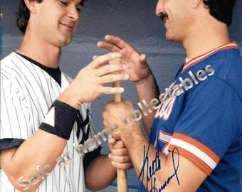 NY Yankees Don Mattingly & NY Mets Keith Hernandez Signed Color 8x10 Photo + Bonus