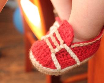 """Baby Boy Crochet Pattern sneakers, Baby Crochet Shoes """"Auroch Sneaker""""  PATTERN ONLY"""