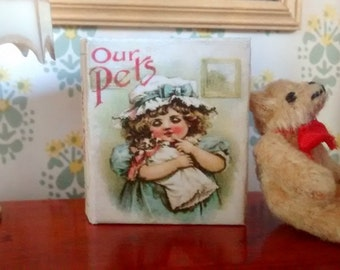Dolls House 12th Scale Our Pets. Downloadable miniature book.