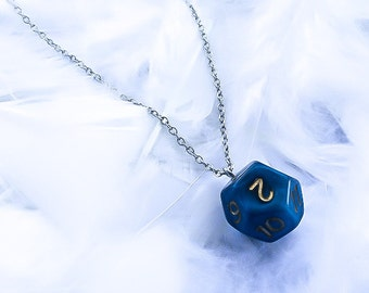 12 sided Dice Necklace - Dungeons and Dragons - D&D necklace - Geekery necklace - D12 Necklace - D and D - Geekery jewelry - Dice Pendant