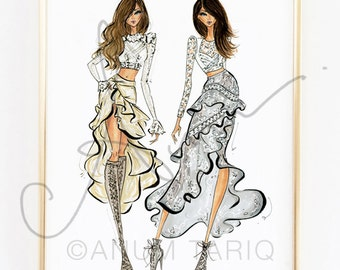 Fashion Illustration Print, Zimmermann