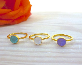Solitaire Ring, Simple Ring, Tiny Ring, Everyday Ring, Minimal Ring, Minimalist Jewelry, Adjustable Ring, Dainty, Gift for Her, Gift ideas