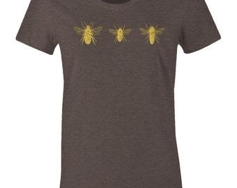 Honey Bee Tee Shirt - Hornet T Shirt - American Apparel Women's Poly Cotton T-Shirt - Item 2364