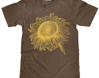 Sunflower Tee Shirt - Women's Sunflower T Shirt - Item 2071